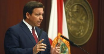 Republican Florida Gov. Ron DeSantis speaks March 2, during his State of the State address at the Capitol in Tallahassee, Florida.