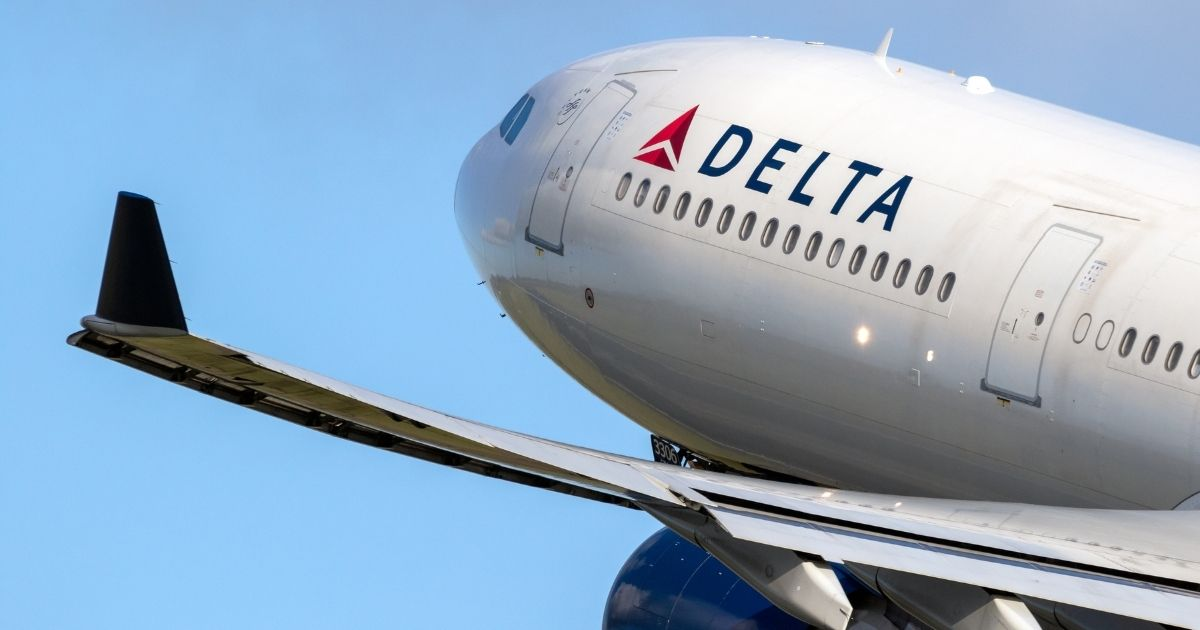 A Delta Air Lines passenger plane is pictured in the stock image above.