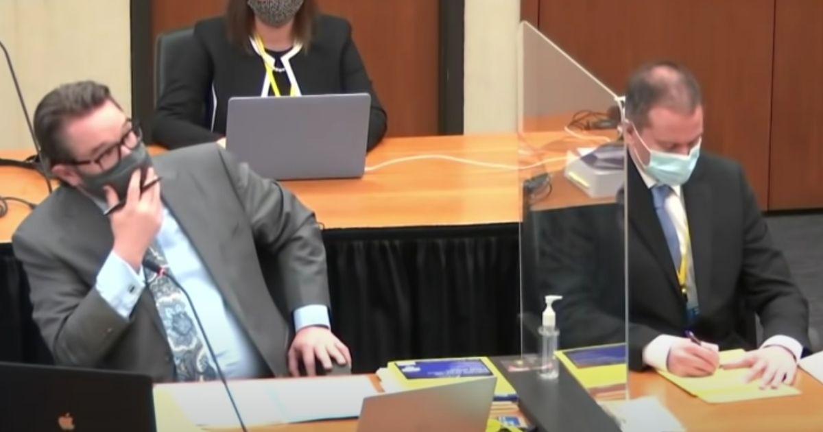 Derek Chauvin during the eleventh day of the State of Minnesota vs. Derek Michael Chauvin.