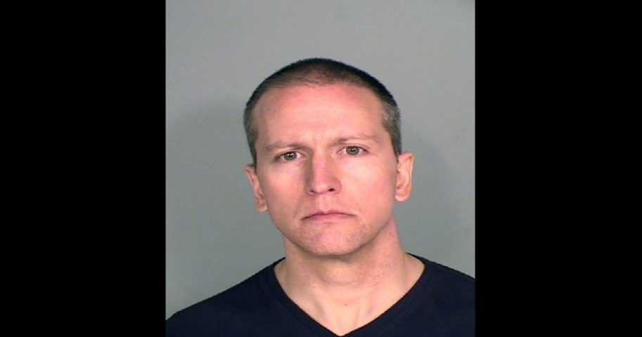 In this handout provided by Ramsey County Sheriff's Office, former Minneapolis police officer Derek Chauvin poses for a mugshot after being charged in the death of George Floyd.