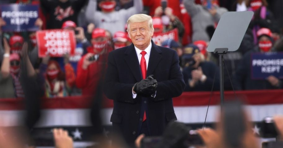 Former President Donald Trump speaks at a rally on Oct. 31, 2020, in Reading, Pennsylvania.