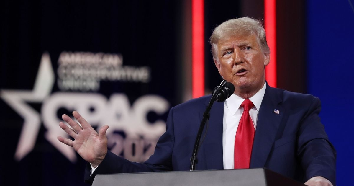 President Donald Trump addresses the Conservative Political Action Conference (CPAC) held in the Hyatt Regency on Feb. 28 in Orlando, Florida.