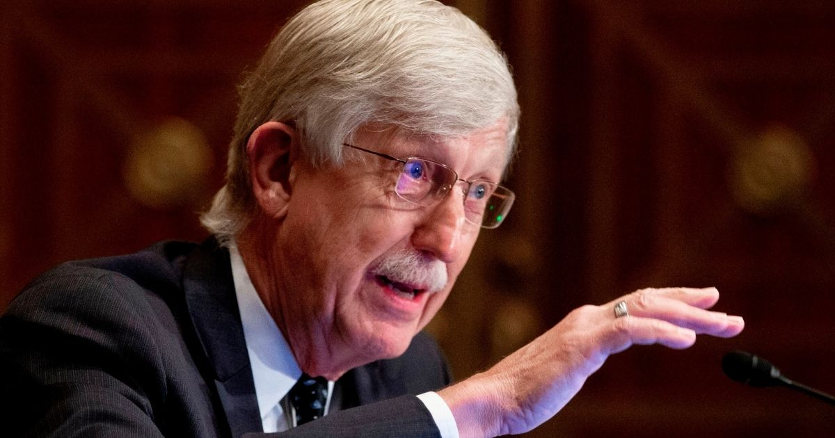 Dr. Francis Collins, director of the National Institutes of Health, testifies during a Senate Health, Education, Labor and Pensions Committee hearing on Sept. 9, 2020, in Washington, D.C., to discuss vaccines and protecting public health during the coronavirus pandemic.