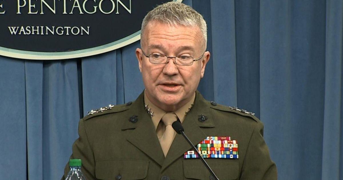 Gen. Frank McKenzie issues a warning to U.S. troop withdrawal in Afghanistan.