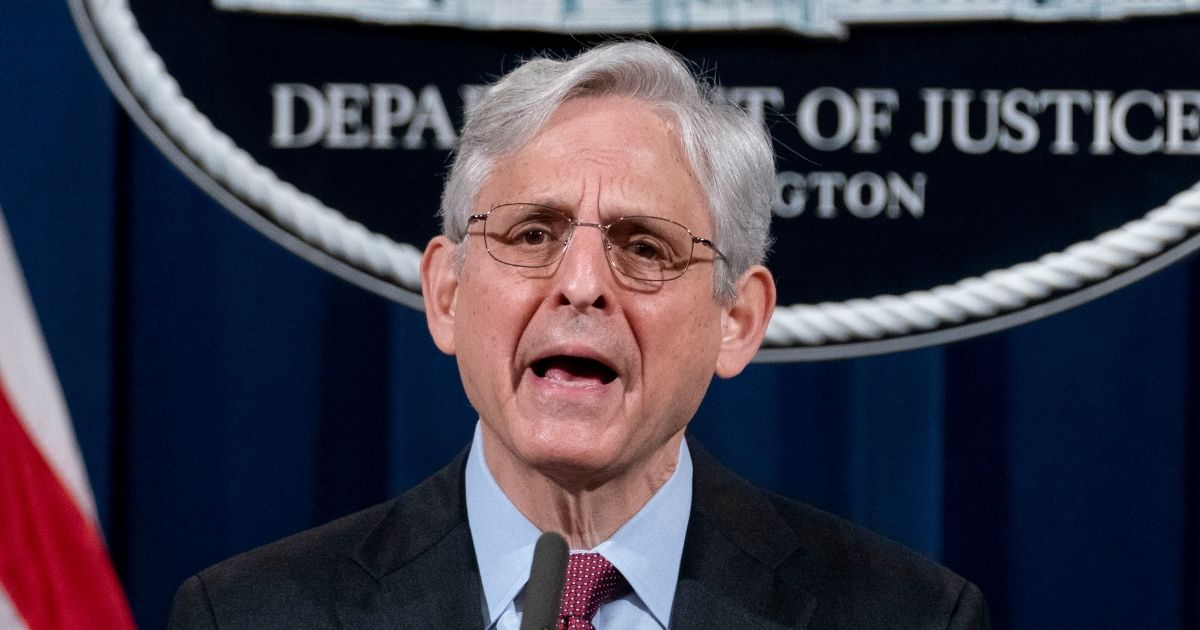 Attorney General Merrick Garland speaks about the jury's verdict in the case against former Minneapolis police officer Derek Chauvin at the Department of Justice in Washington on Wednesday.