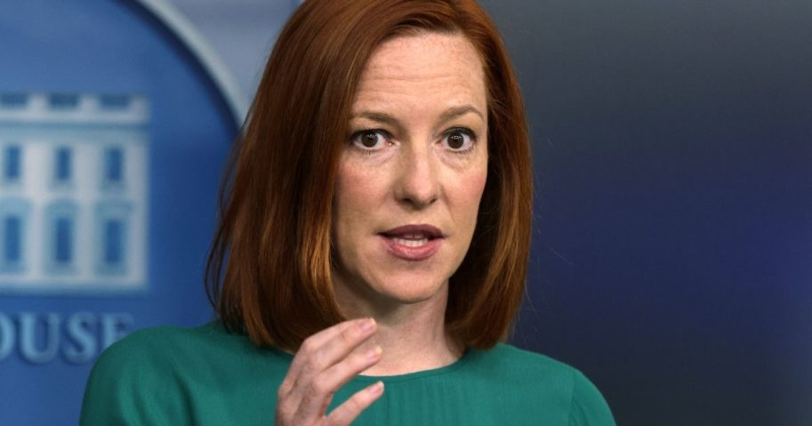 White House press secretary Jen Psaki speaks during a daily news briefing in the James Brady Press Briefing Room of the White House in Washington on Tuesday.