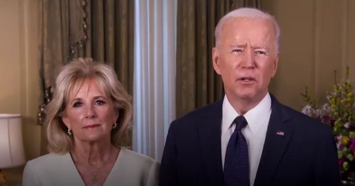 President Joe Biden and first lady Jill Biden deliver an Easter message on Sunday.