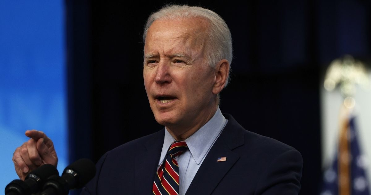 President Joe Biden delivers remarks on the COVID-19 response and the state of vaccinations at the South Court Auditorium of Eisenhower Executive Office Building on Wednesday in Washington, D.C.
