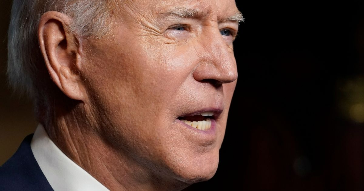 President Joe Biden speaks from the Treaty Room of the White House in Washington on Wednesday about the withdrawal of U.S. troops from Afghanistan.
