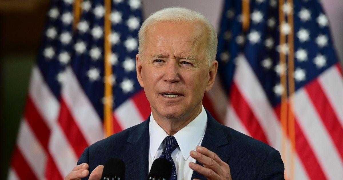President Joe Biden speaks in Pittsburgh on Wednesday.