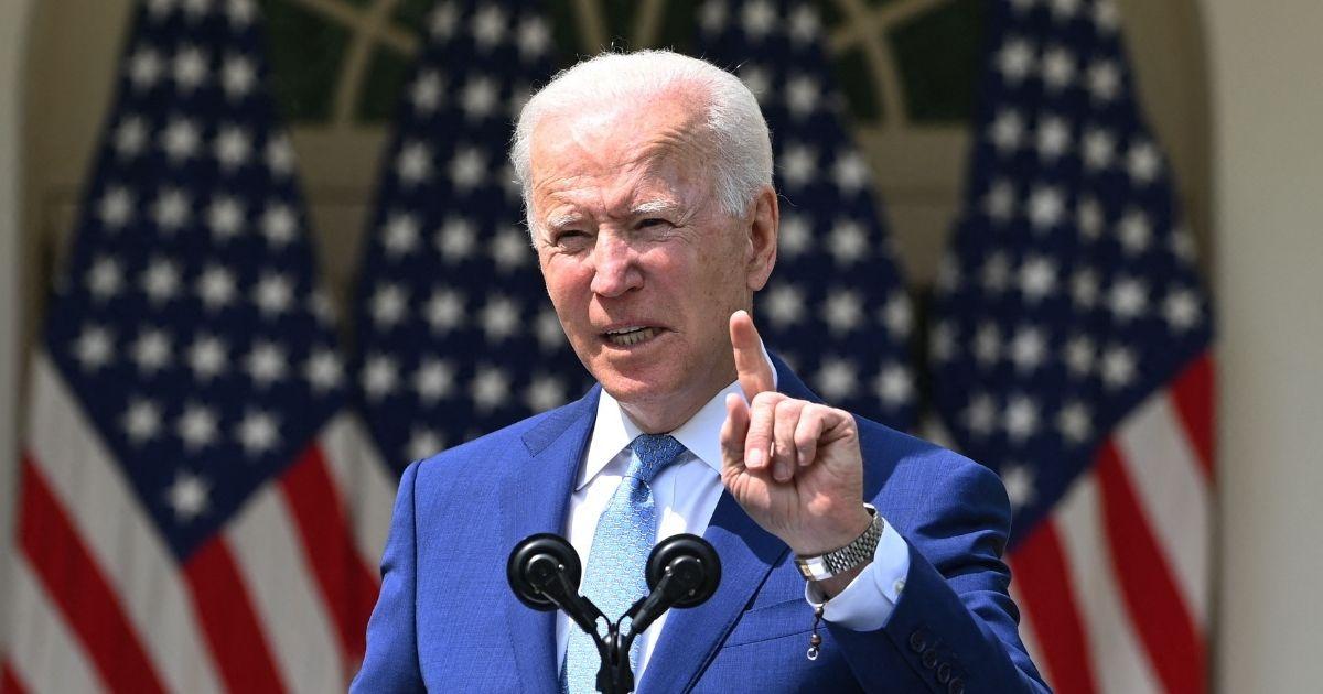 President Joe Biden speaks about gun control in the Rose Garden of the White House in Washington, D.C., on Thursday.