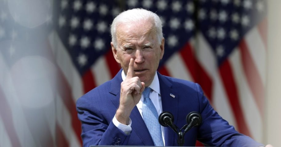 President Joe Biden speaks during an event on gun control in the Rose Garden at the White House on Thursday in Washington, D.C.
