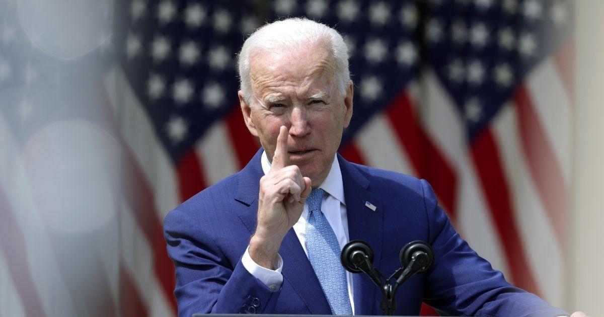 President Joe Biden speaks during an event on gun control in the Rose Garden at the White House on Thursday in Washington, D.C.
