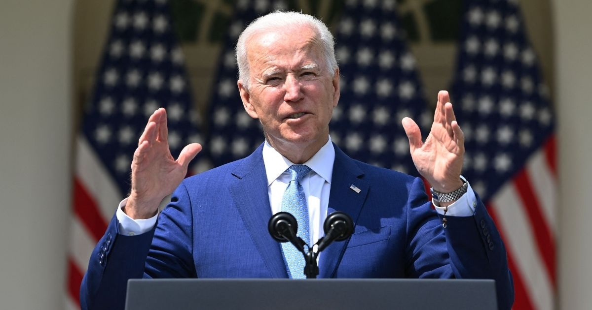 President Joe Biden speaks about gun control in the Rose Garden of the White House in Washington, D.C., on Thursday.