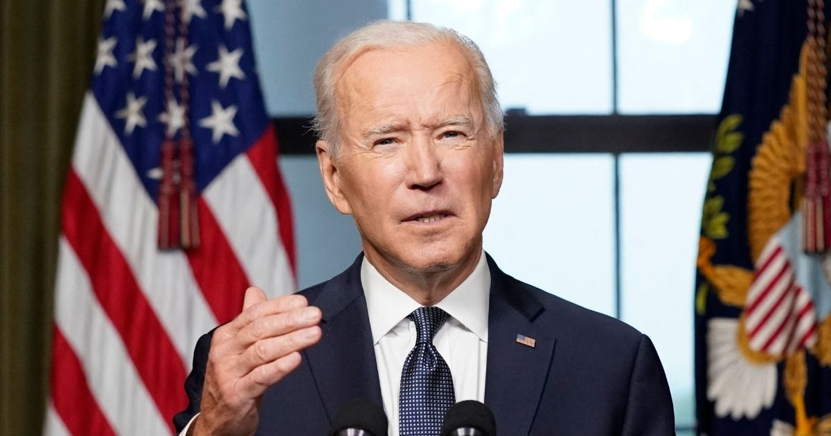 President Joe Biden speaks from the Treaty Room in the White House on Wednesday in Washington, D.C., about the withdrawal of the remainder of U.S. troops from Afghanistan.