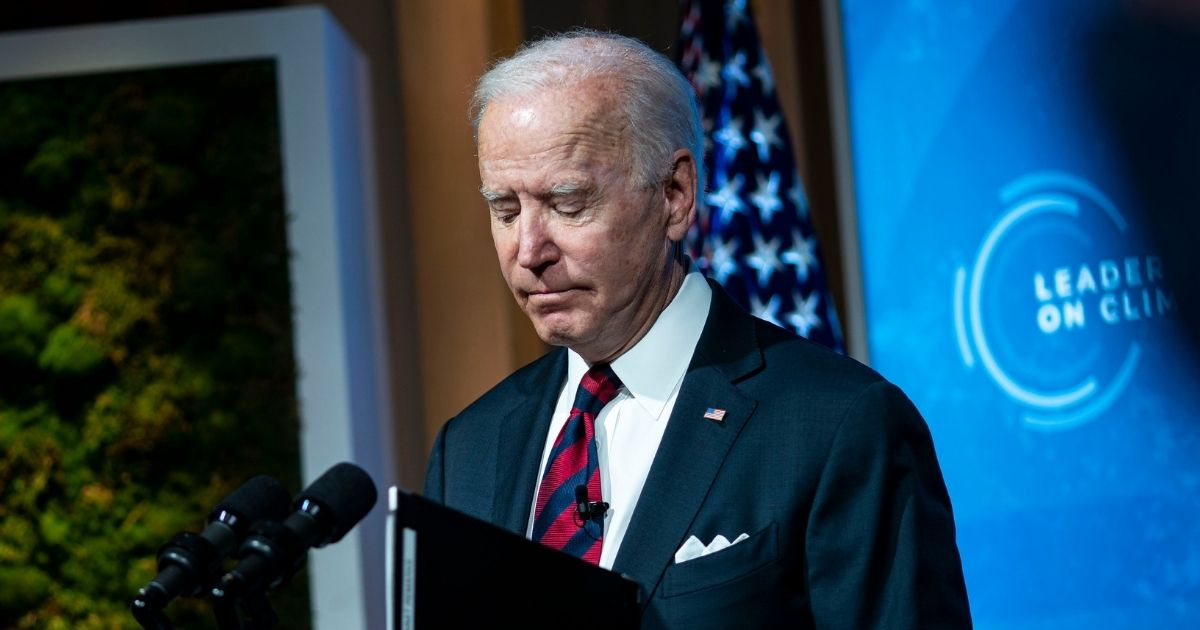 President Joe Biden delivers remarks during a virtual Leaders Summit on Climate with 40 world leaders at the East Room of the White House in Washington, D.C., on Thursday.