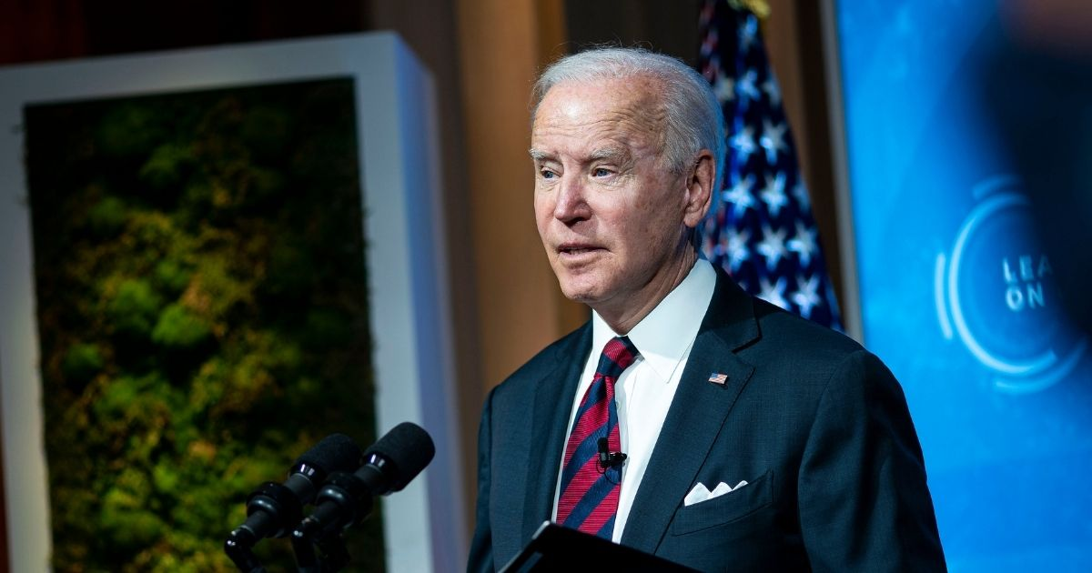 President Joe Biden delivers remarks during a virtual Leaders Summit on Climate with 40 world leaders at the East Room of the White House on Thursday in Washington, D.C.