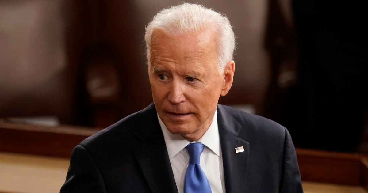 President Joe Biden turns from the podium after speaking to a joint session of Congress in the House chamber at the Capitol on Thursday in Washington, D.C.