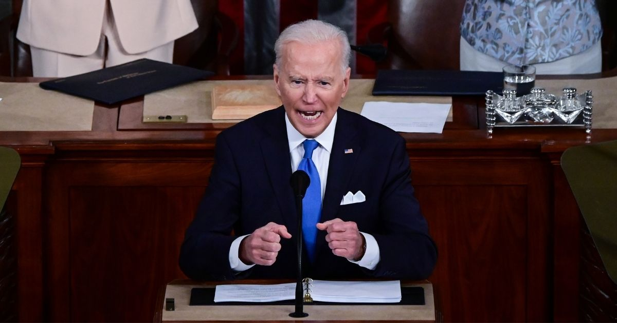 President Joe Biden addresses a joint session of Congress in the House chamber of the U.S. Capitol on Wednesday in Washington, D.C.