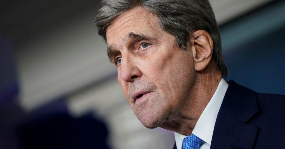 Special Presidential Envoy for Climate John Kerry speaks during a press briefing at the White House on Jan. 27 in Washington, D.C.