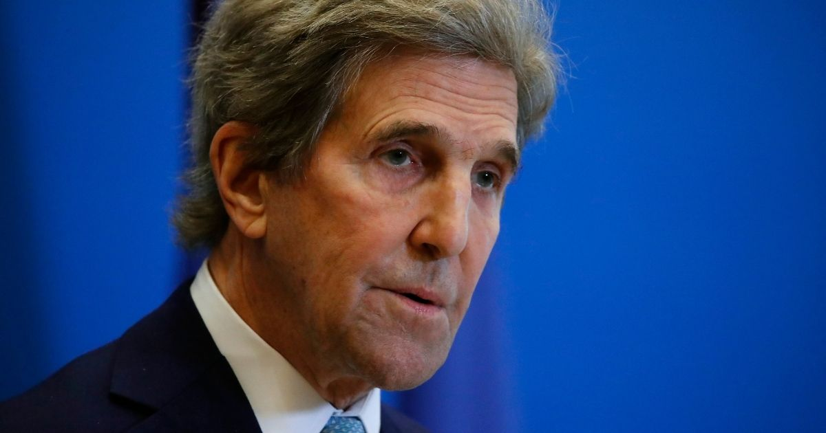 John Kerry, the Biden administration's special envoy for climate, attends a joint news conference with Bruno Le Maire, France's economy and finance minister, at Bercy Ministry in Paris on March 10.