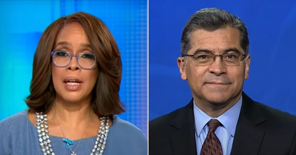 """CBS This Morning"" co-host Gayle King interviews Health and Human Services Secretary Xavier Becerra."