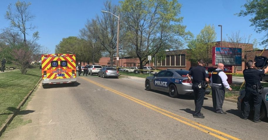 The Knoxville Police Department tweeted that authorities were on the scene of the shooting at Austin-East Magnet High School.
