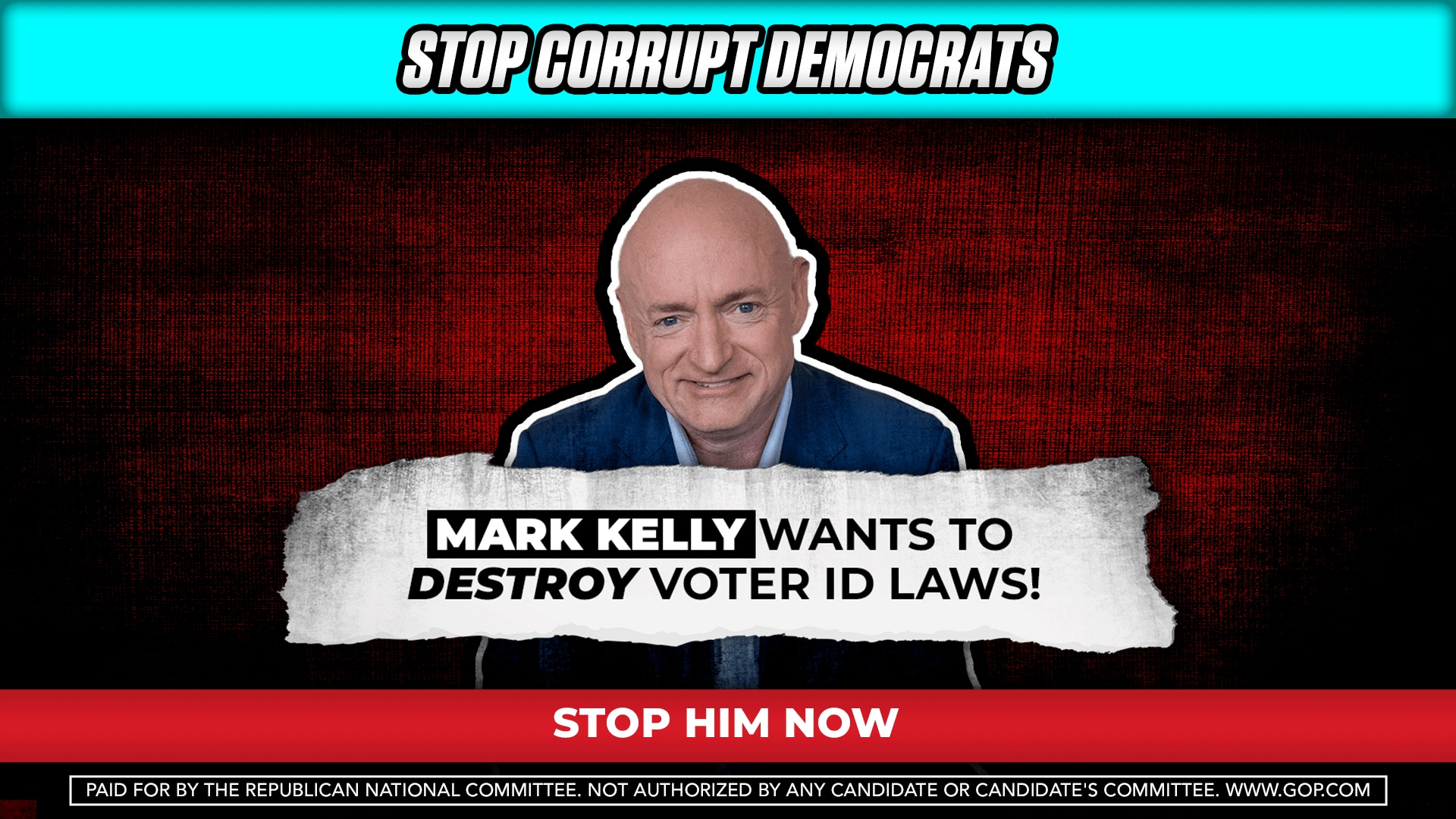 Mark Kelly presented as the face of H.R. 1 in a recently released GOP advertisement.