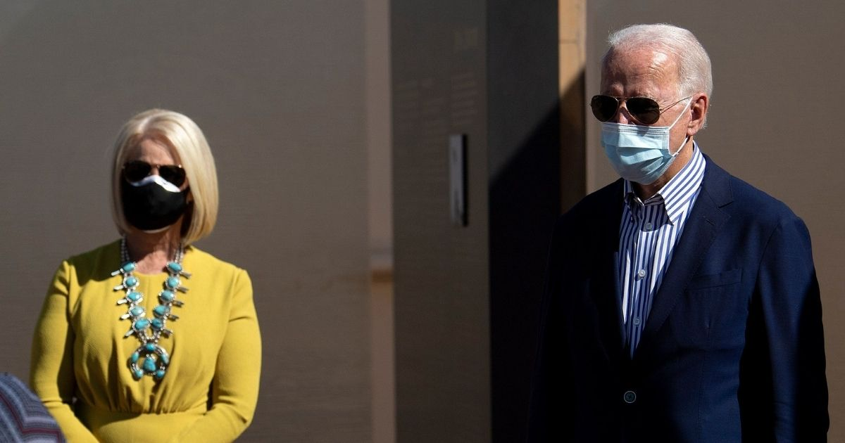Cindy McCain and Joe Biden