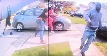 A still from police body camera footage of a fatal encounter in Ohio.
