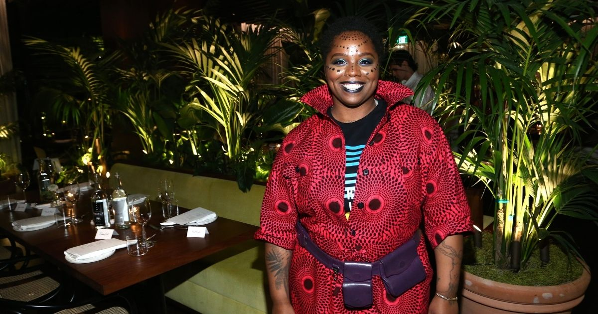 Patrisse Cullors attends the Frieze Project Artist Patrisse Cullors x Summit x Cultured Magazine Dinner at The West Hollywood EDITION on Feb. 13, 2020, in West Hollywood, California.