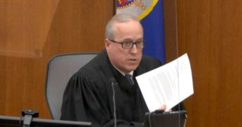In this image from video, Hennepin County Judge Peter Cahill reads instructions to the jury before closing arguments on Monday in the trial of former Minneapolis police officer Derek Chauvin at the Hennepin County Courthouse in Minneapolis. Chauvin is charged in the May 25 death of George Floyd.