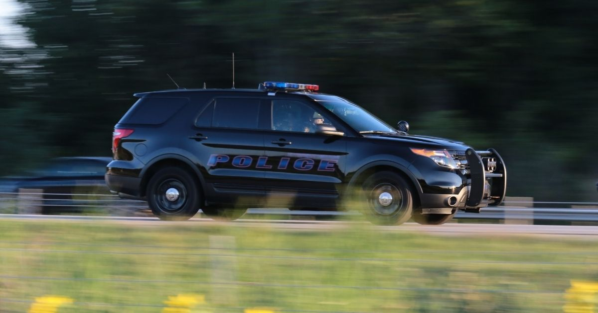 The above stock photo shows a police SUV car.