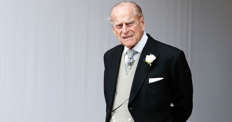 Prince Philip, Duke of Edinburgh attends the wedding of Princess Eugenie of York to Jack Brooksbank at St. George's Chapel on Oct. 12, 2018, in Windsor, England.