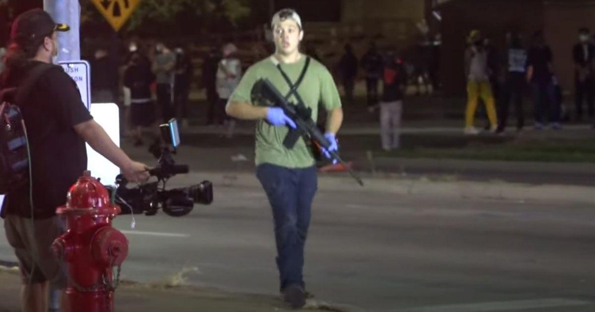 Kyle Rittenhouse is seen Aug. 25 in Kenosha, Wisconsin.