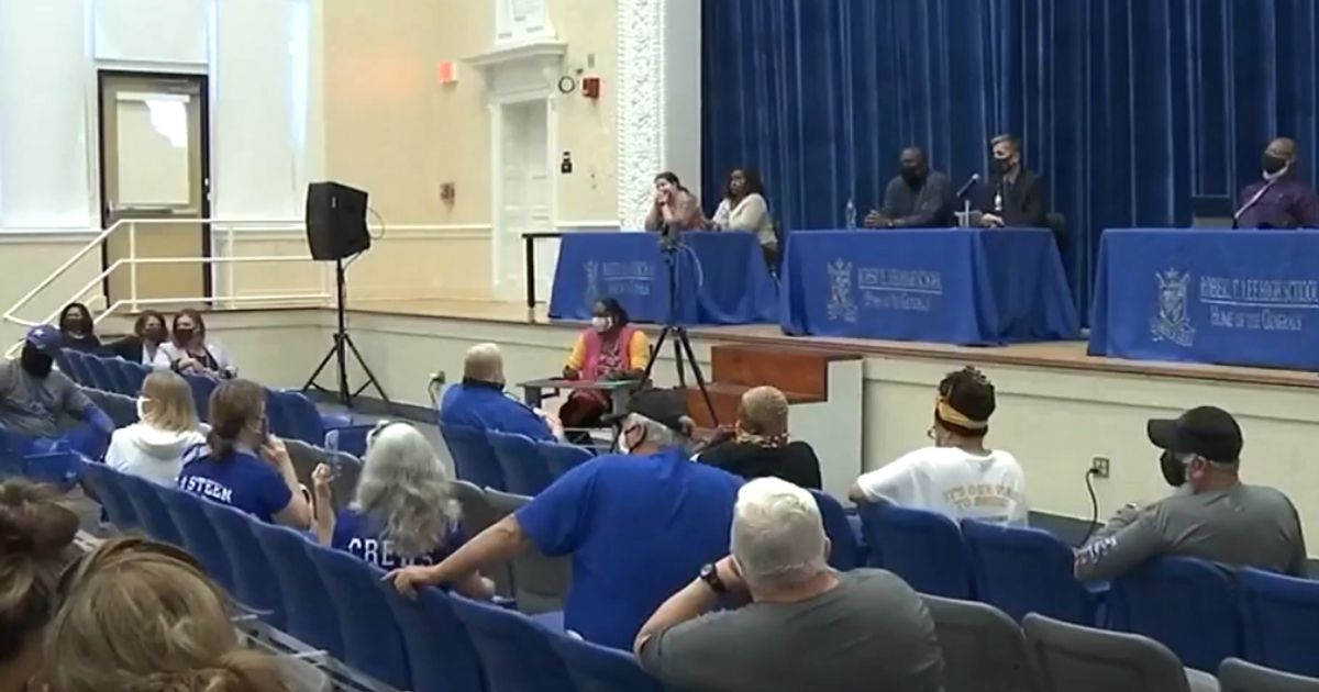 School officials and community members debate changing the name of Robert E. Lee High School in Jacksonville, Florida.