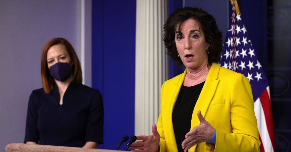 Special Assistant to the President & Coordinator for the Southern Border Ambassador Roberta Jacobson speaks at a daily media briefing at the James Brady Press Briefing Room of the White House March 10, 2021, in Washington, D.C.
