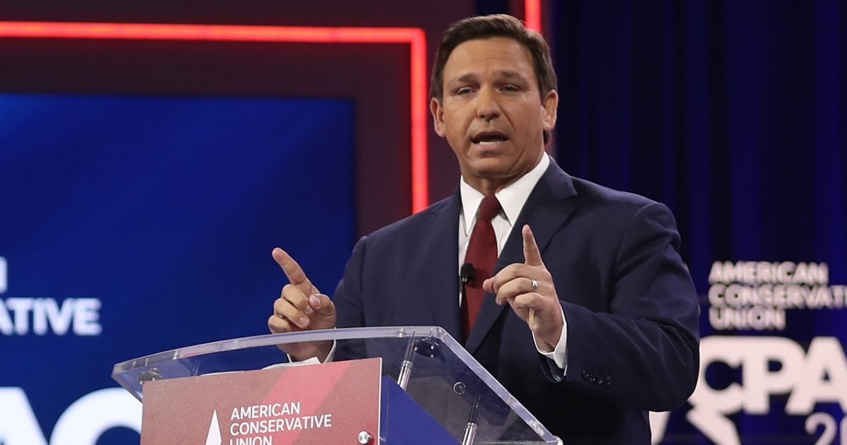Florida Republican Gov. Ron DeSantis speaks at the opening of the Conservative Political Action Conference at the Hyatt Regency on Feb. 26, 2021, in Orlando, Florida.