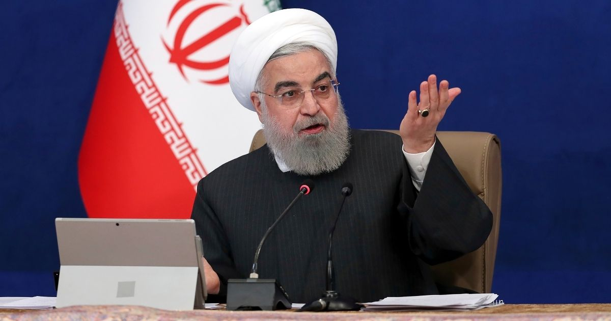 Iranian President Hassan Rouhani speaks during a Cabinet meeting in Tehran on Jan. 6.