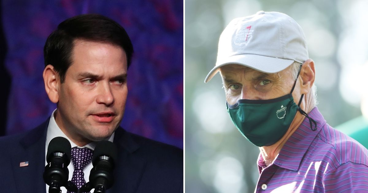 Republican Sen. Marco Rubio of Florida, left, wrote a letter to MLB commissioner Rob Manfred on Monday in which the senator identified some of the hypocritical positions that Manfred holds.