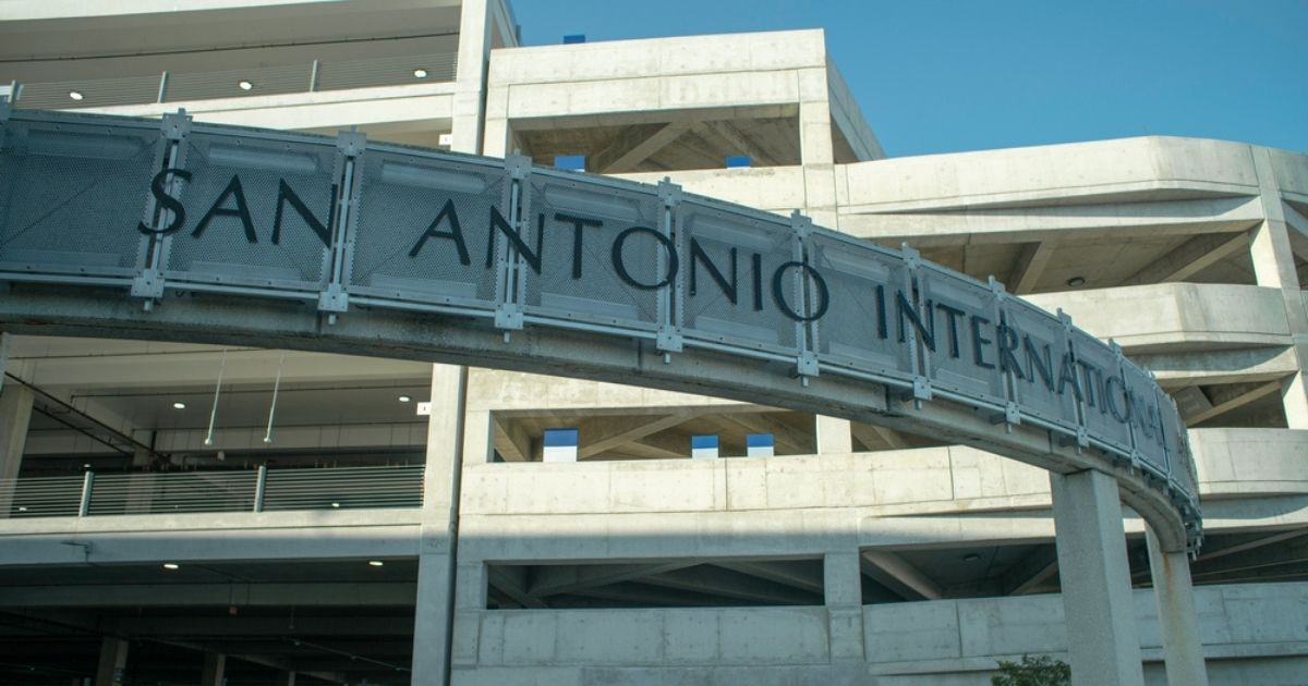 A parking garage at the San Antonio International Airport is pictured in the stock image above.