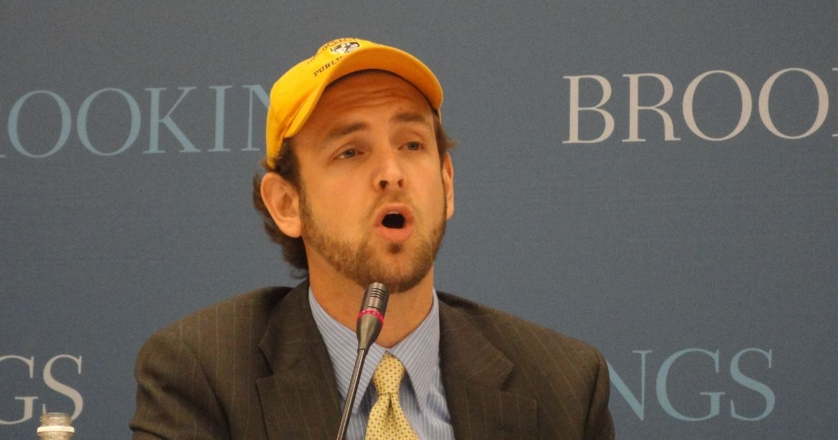 Seth Andrew of Democracy Prep Public Schools speaks at the Brookings Institution on Jan. 8, 2012.