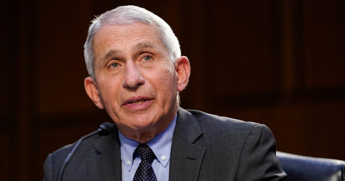 Dr. Anthony Fauci, director of the National Institute of Allergy and Infectious Diseases, testifies during a Senate Health, Education, Labor and Pensions Committee hearing on the federal coronavirus response on Capitol Hill on March 18, 2021, in Washington, D.C.