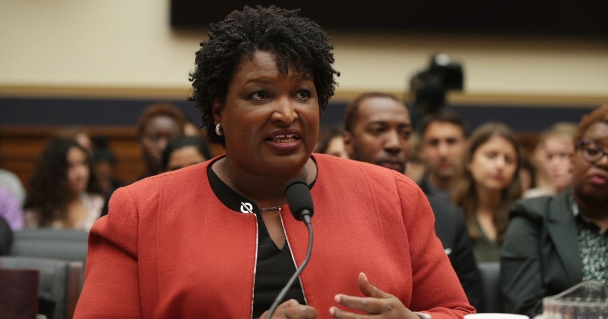 Former Democratic state Rep. Stacey Abrams of Georgia testifies during a hearing before the Constitution, Civil Rights and Civil Liberties Subcommittee of House Judiciary Committee on June 25, 2019, on Capitol Hill in Washington, D.C.