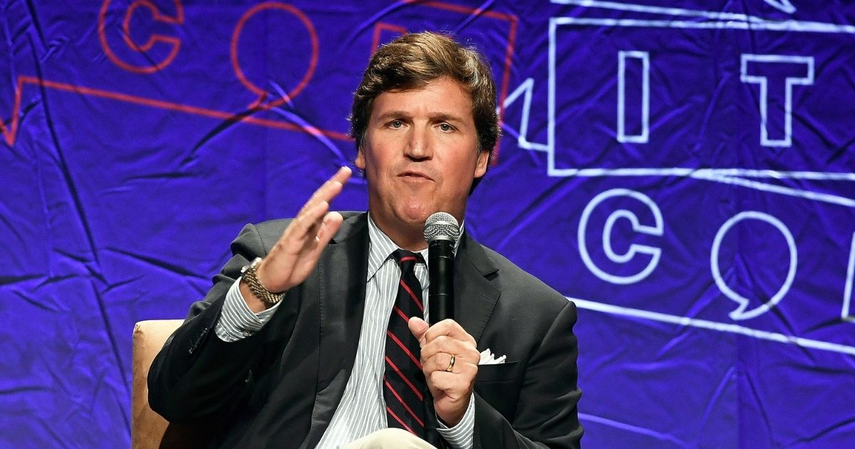 Fox News anchor Tucker Carlson speaks during Politicon 2018 at Los Angeles Convention Center on Oct. 21, 2018, in Los Angeles.