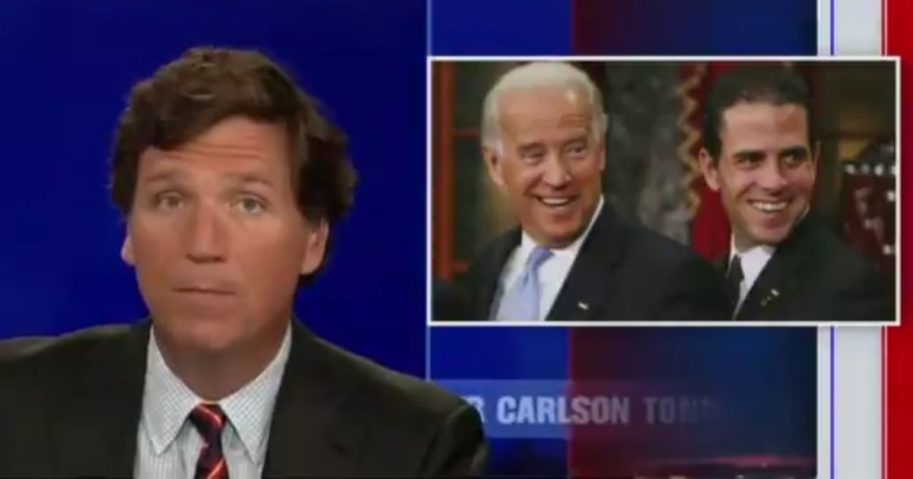 Fox News host Tucker Carlson raised questions regarding Hunter Biden's ability to lie on a background check form and get away with it on his program on Thursday night.