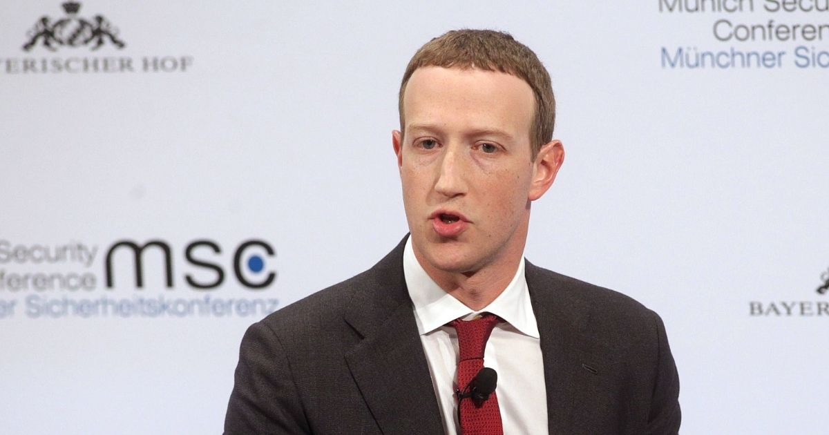 Facebook founder and CEO Mark Zuckerberg is pictured in a file from the 2020 Munich Security Conference on Feb. 15, 2020, in Munich, Germany.