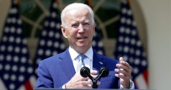 President Joe Biden announces a series of executive orders on guns during an event Wednesday at the White House.