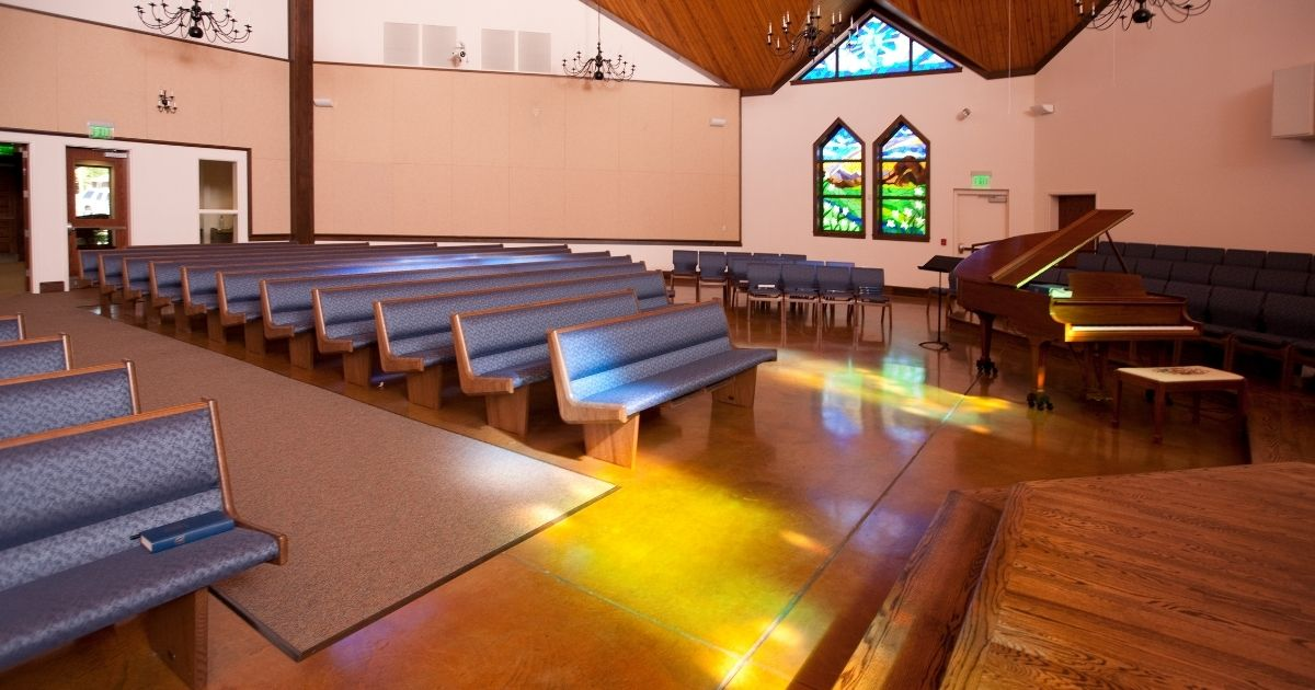 This is a stock photo of an empty church in North Carolina, but the scene contains a dose of reality: Church membership in the United States continues to decline.