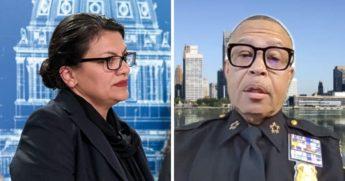 U.S. Rep. Rashida Tlaib, left; and Detroit Police Chief James Craig, right.
